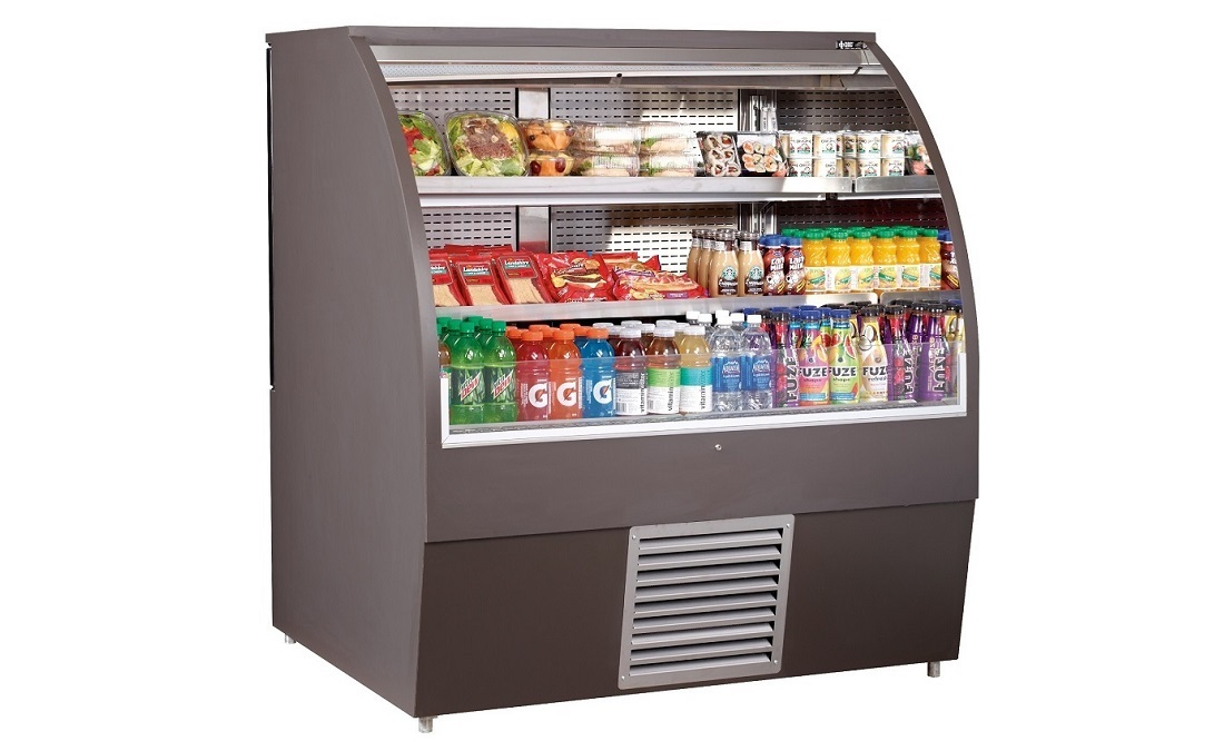 Refrigerated Display Case Beverage Coolers Glass Door