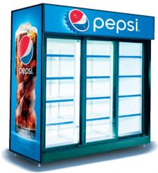 Triple Door Pepsi Cooler, Triple Door beverage cooler, Triple Door Pepsi refrigerator, Triple Door Pepsi unit, Triple Door Pepsi beverage Cooler, Triple Door Pepsi Cooler manufacturer, Triple Door Pepsi Cooler supplier, Triple Door Pepsi Cooler exporter